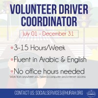 Driver volunteer needed